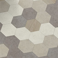 Коллекция Moduleo Moods Hexagon random soft wood