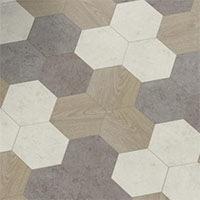 Коллекция Moduleo Moods Hexagon motion wood soft