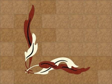 фигурный художественный пробковый элемент листья