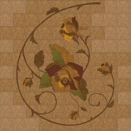 фигурный художественный пробковый элемент розы