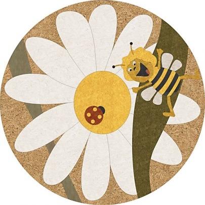 пробковая розетка круглая пчелка майа