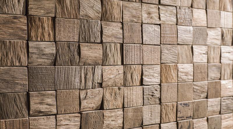 Монтаж деревянной мозаики