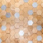 Стеновая панель Карелия-Упофлор Соты 3Д Дуб