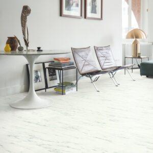 Винил ПВХ Quick-Step коллекция Ambient Click Мрамор каррарский белый