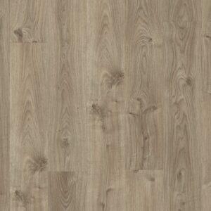 Винил ПВХ Quick-Step коллекция Balance Rigid Click Дуб коттедж серо-коричневый